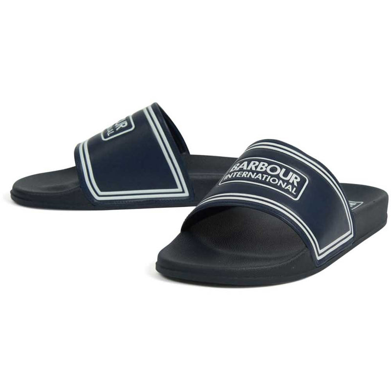 Barbour International Men's Pool Sliders Navy White