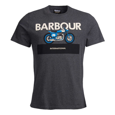 Barbour International Rider T-Shirt Charcoal Marl
