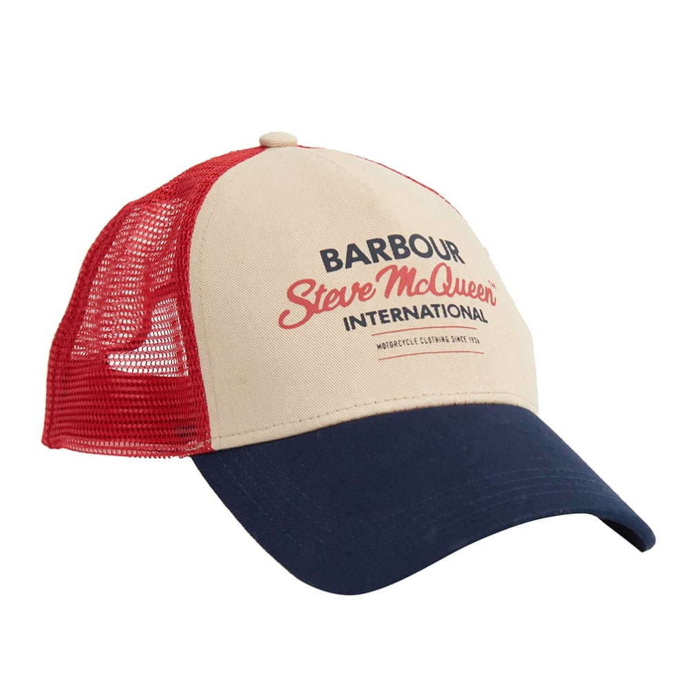 Barbour International Steve McQueen Trucker Cap Navy