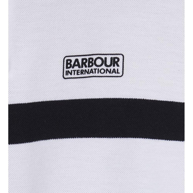 Barbour International Clax Stripe Polo Shirt White