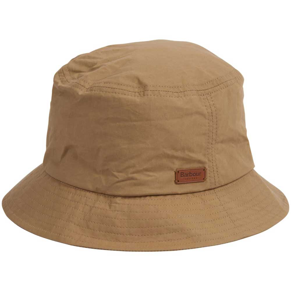 Barbour Mens Irvine Wax Sports Bucket Hat Mid Khaki
