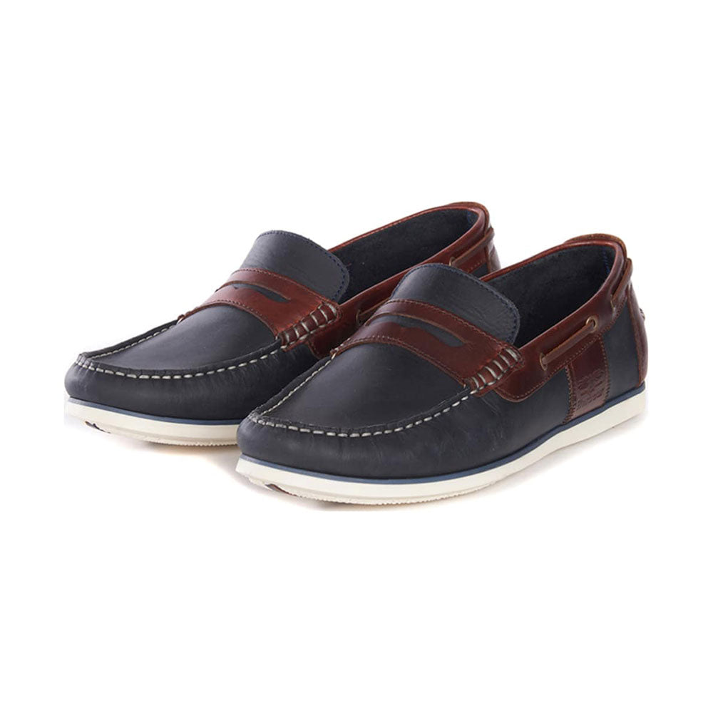 Barbour Keel Boat Shoes Navy / Brown