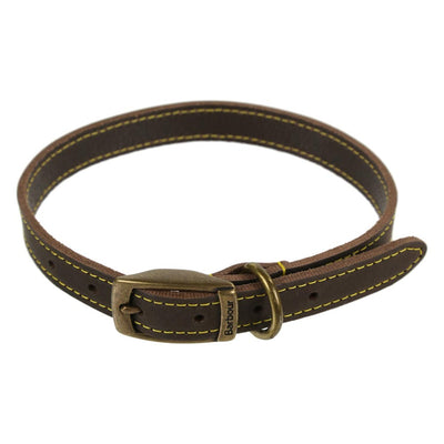 Barbour Leather Dog Collar Brown