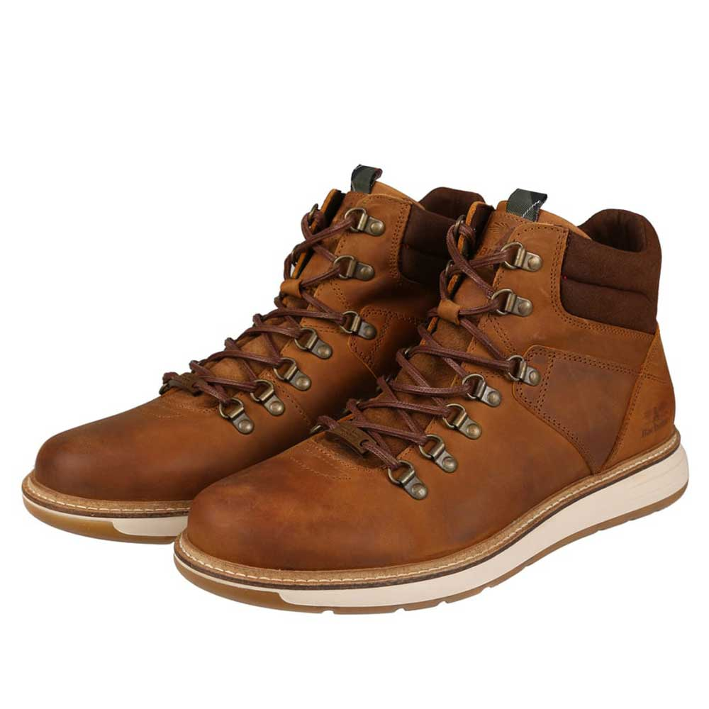Barbour Letah Leather Hiker Boots Cognac