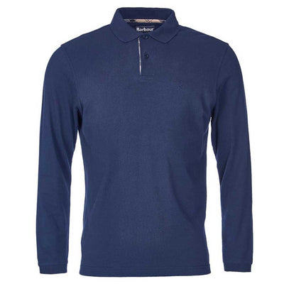 Barbour Sports Long Sleeve Polo Shirt Navy