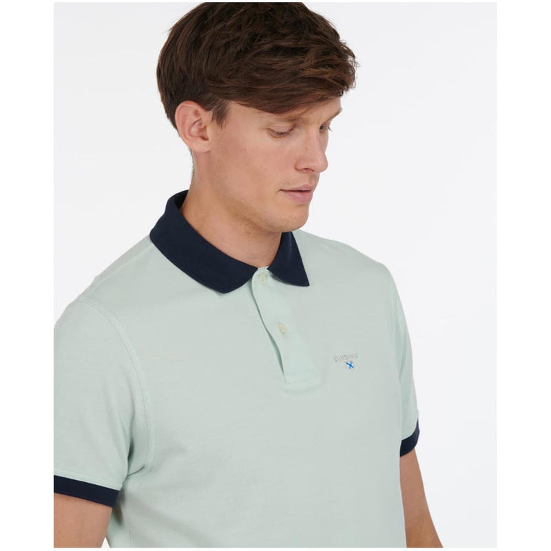 Barbour Men's Lynton Polo Shirt Surf Spray