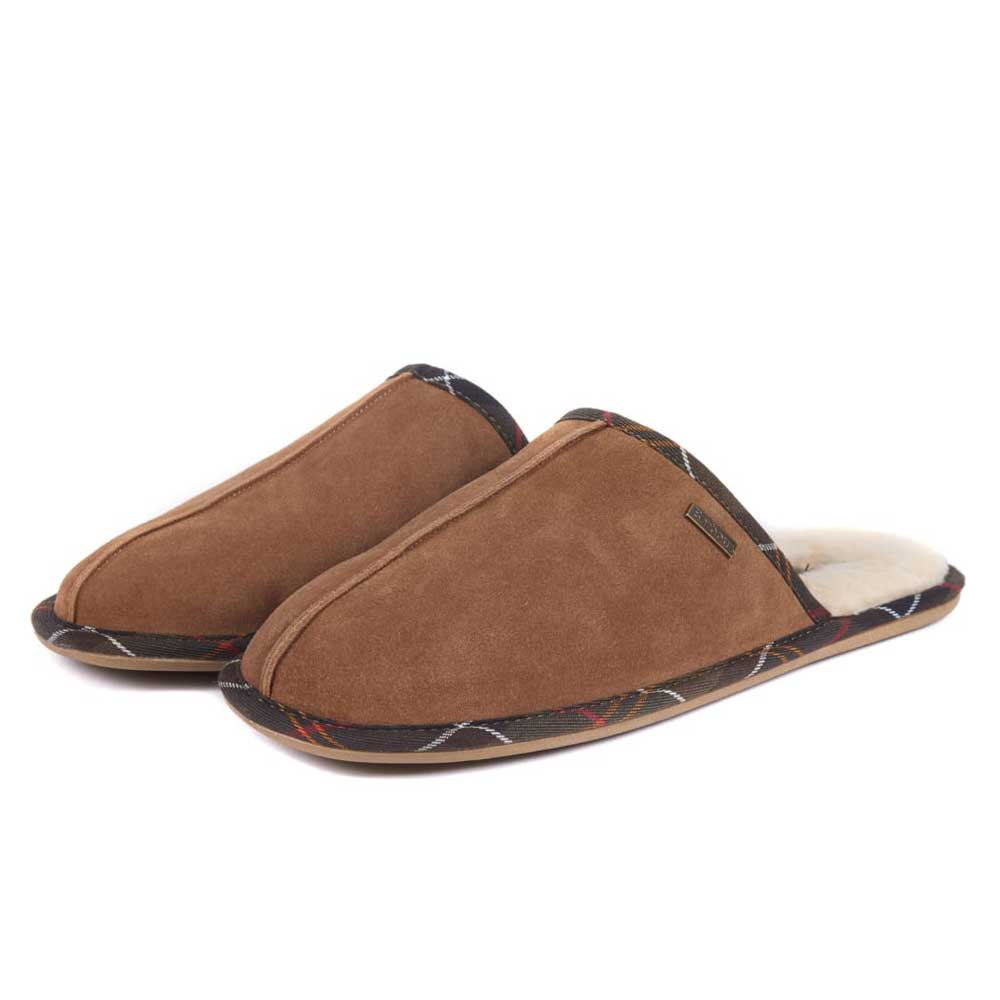 Barbour Malone Slippers Camel Suede