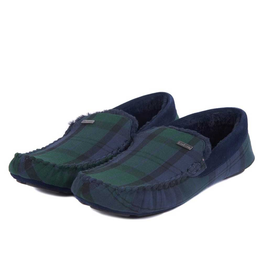 Barbour Monty Moccasin Slippers Black Watch Tartan