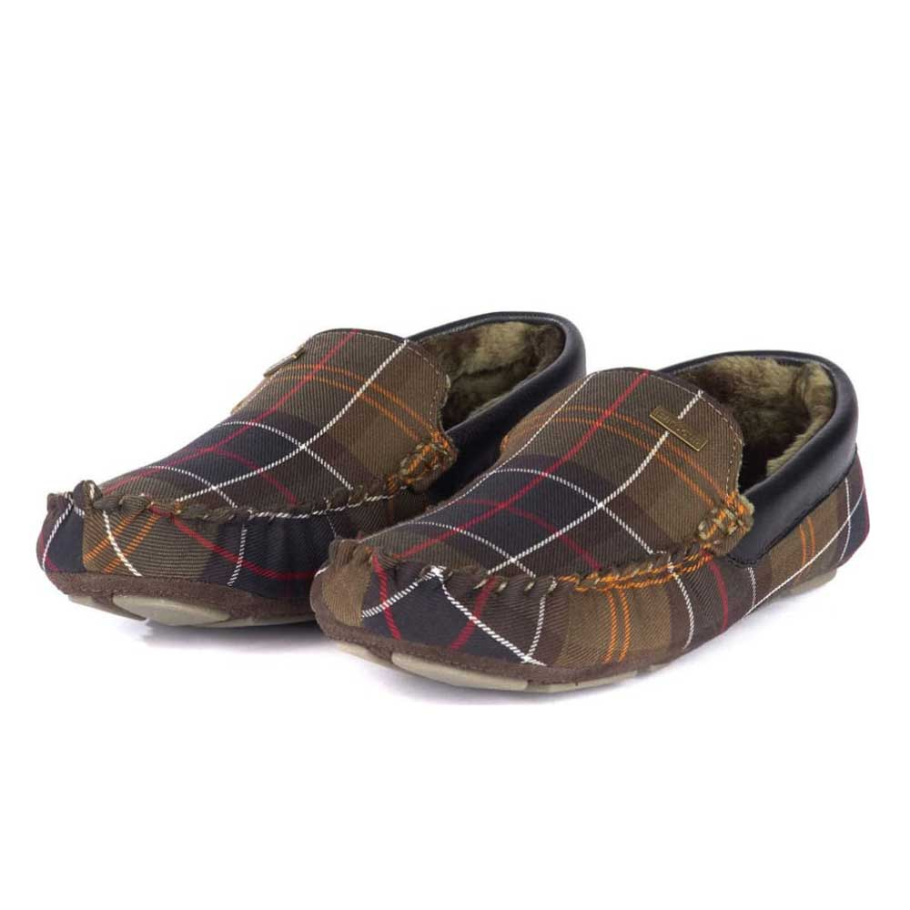 Barbour Monty Moccasin Slippers Classic Tartan