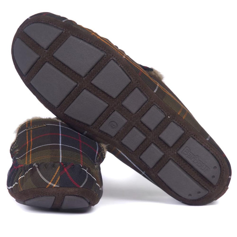 Barbour Monty Moccasin House Slippers Classic Tartan