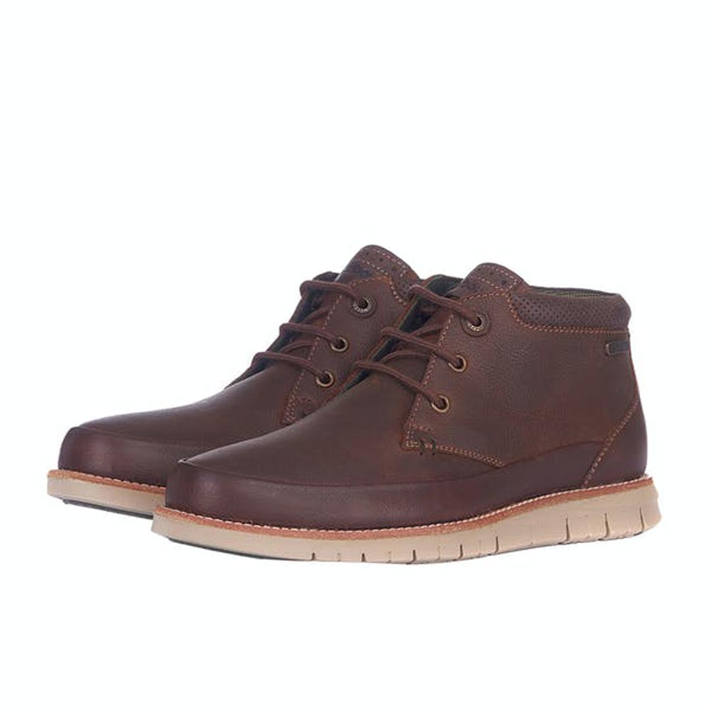 Barbour Nelson Chukka Boots Teak Brown
