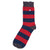 Barbour Oxton Stripe Socks Dark Navy / Red