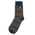 Barbour Oxton Stripe Socks Olive / Grey