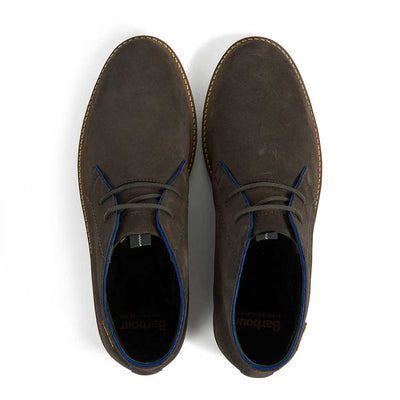 Barbour Readhead Grey Suede Chukka Boots