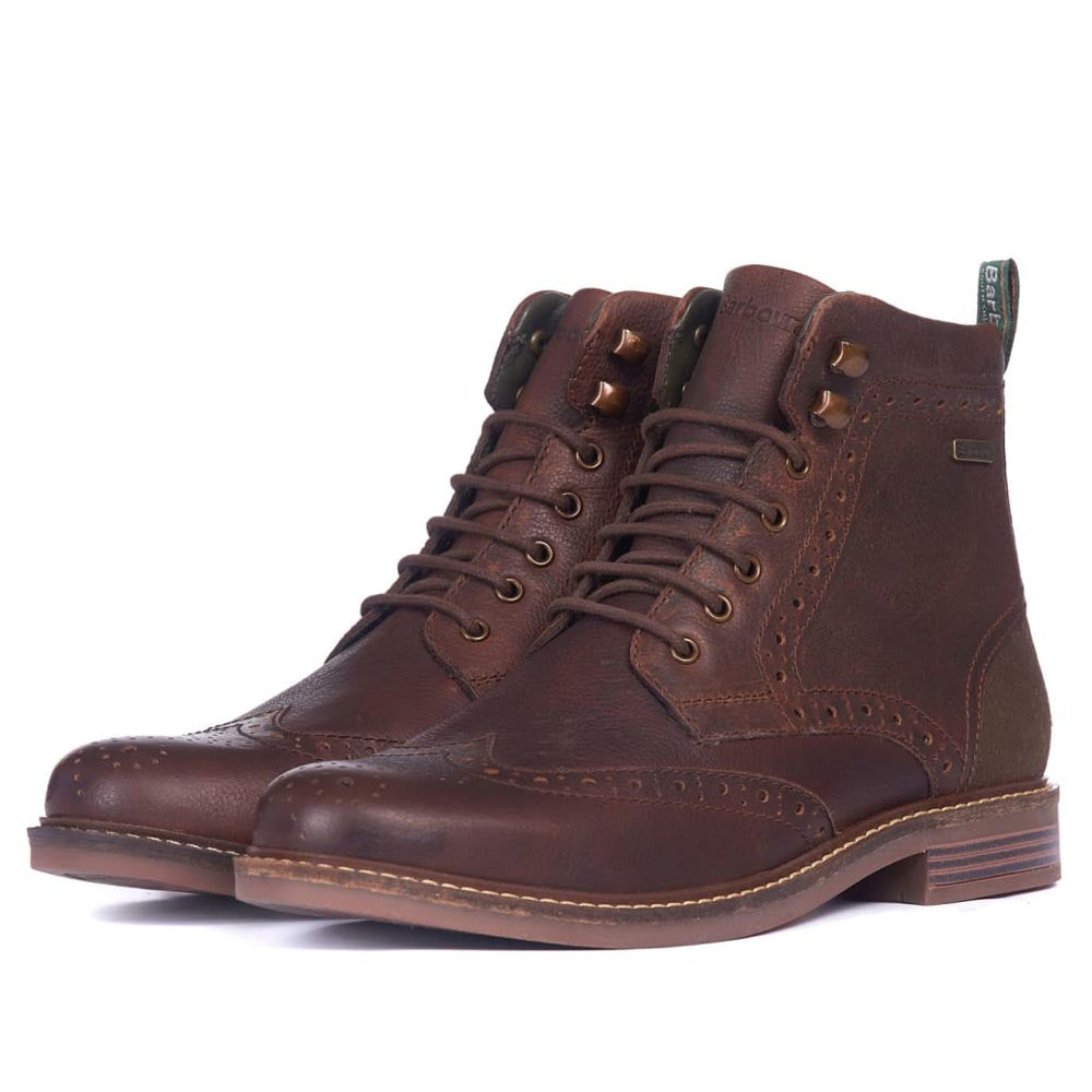 Barbour Seaton Brogue Boots Teak