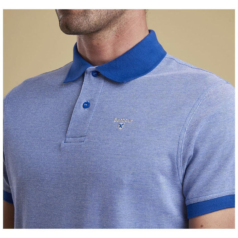 Barbour Men's Sports Mix Polo Shirt Electric Blue