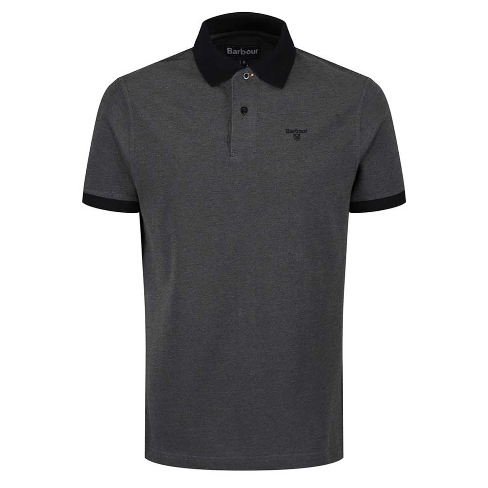 Barbour Sports Short Sleeve Mix Polo Shirt Black