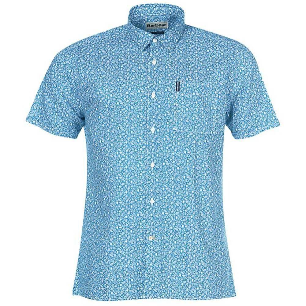 Barbour Men's Summer Print 8 S/S Shirt Blue