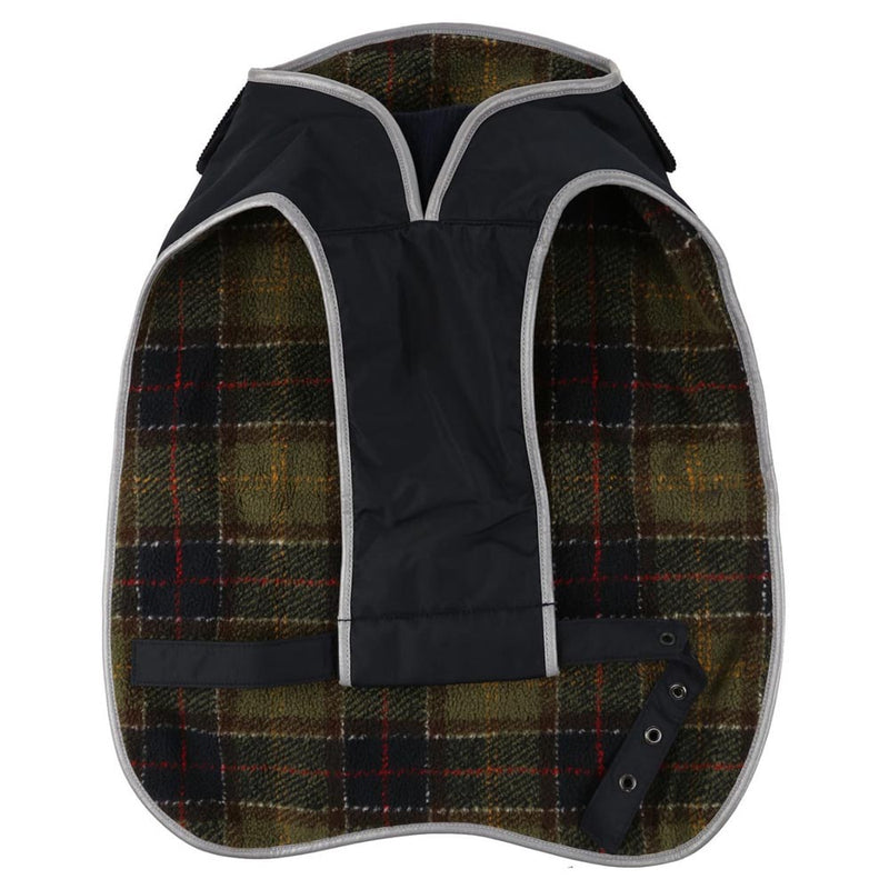 Barbour Tartan Fleece Dog Coat Navy