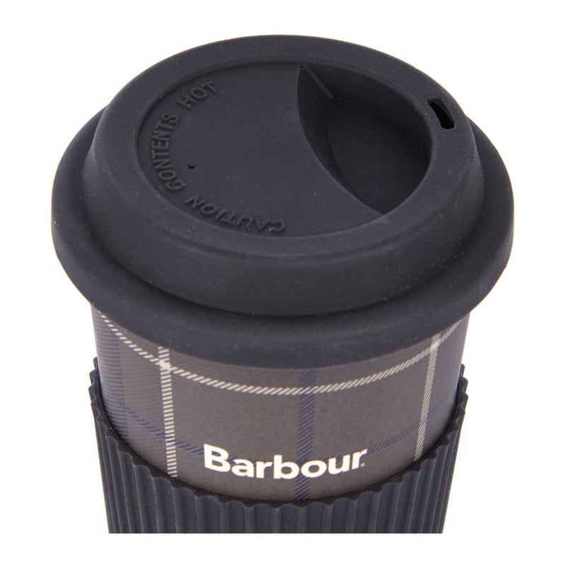 Barbour Tartan Travel Mug Monochrome