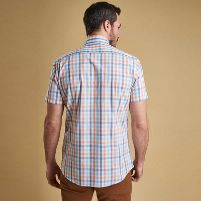 Barbour Tattersall 2 Short Sleeve Shirt Orange