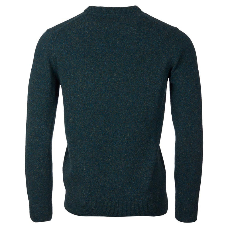 Barbour Tisbury Crew Neck Sweater Dark Aqua