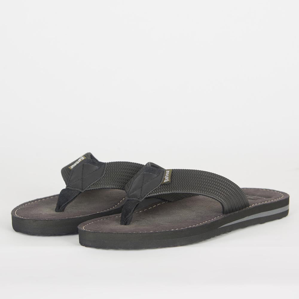 Barbour Men's Toeman Beach Sandals Black