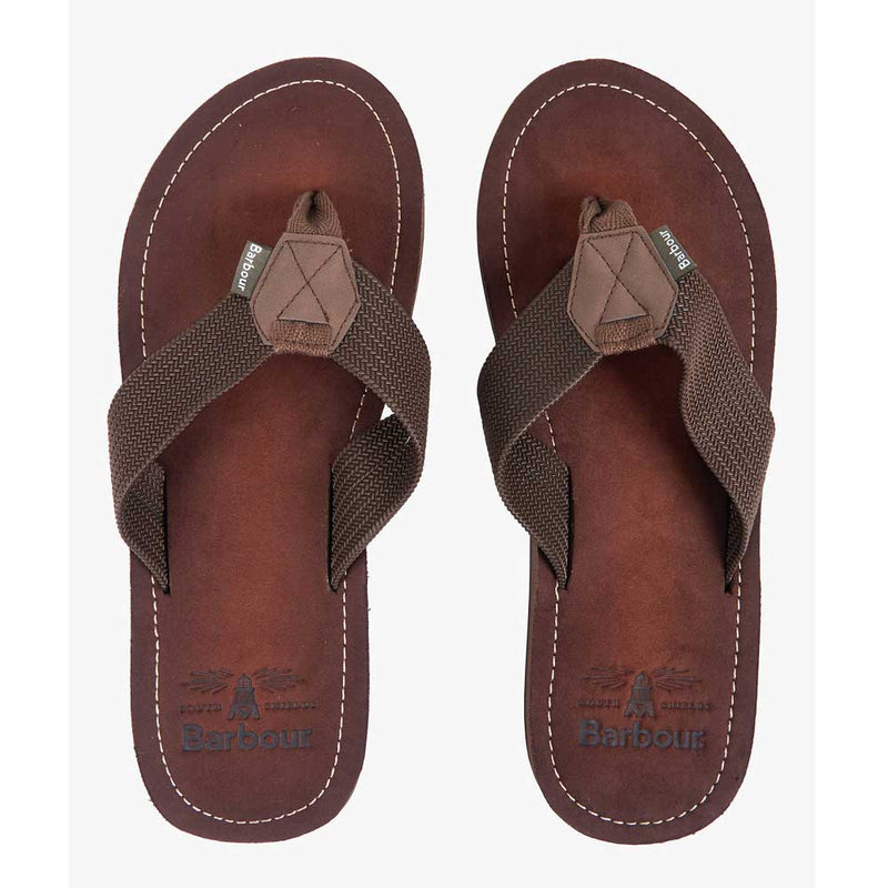 Barbour Toeman Men's Brown Beach Sandal Flip Flops