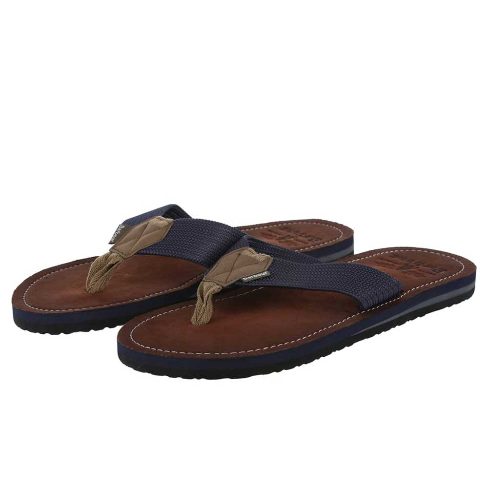 Barbour Toeman Men's Navy Beach Sandal Flip Flops