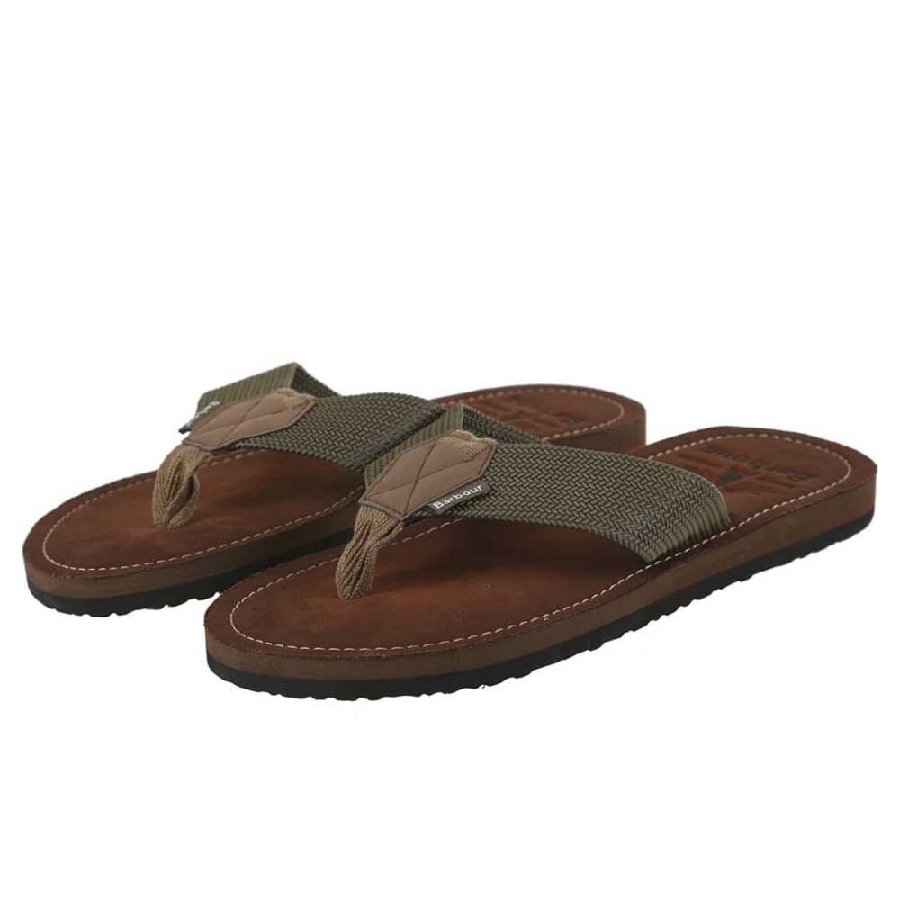 Barbour Men's Toeman Beach Sandals Olive