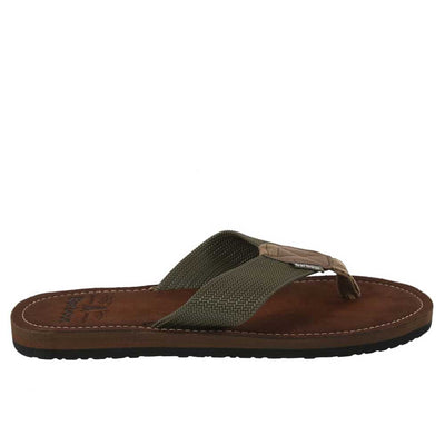 Barbour Toeman Men's Olive Beach Sandal Flip Flops