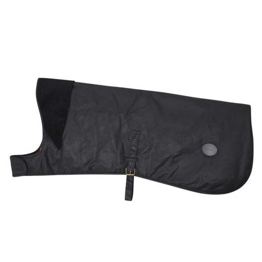 Barbour Waxed Cotton Dog Coat Black
