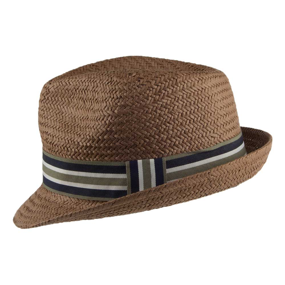 7806e054 Barbour Men's Whitby Trilby Hat Brown