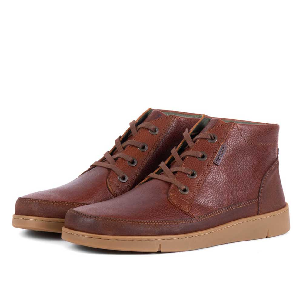 Barbour Wombat Boots Cognac Grain Leather