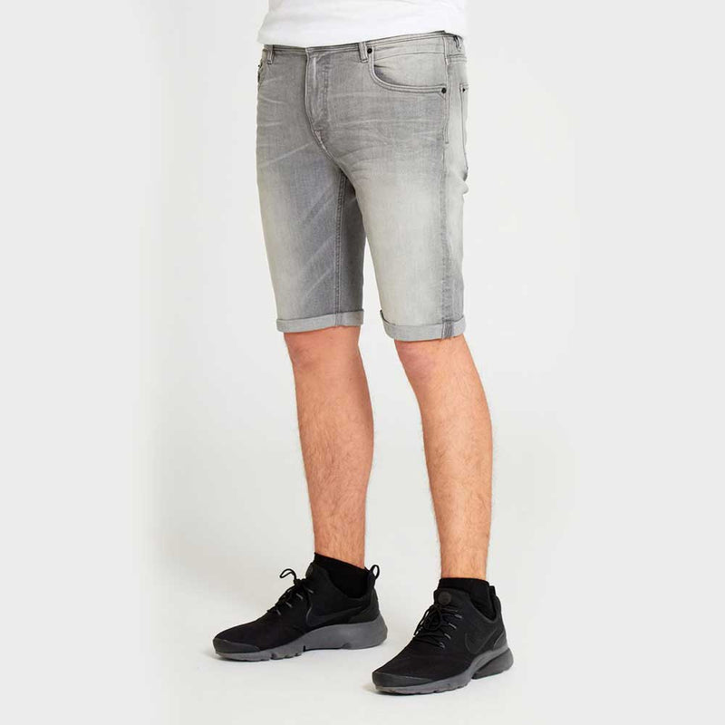 DML Jeans Carbon Denim Short In Mid Grey