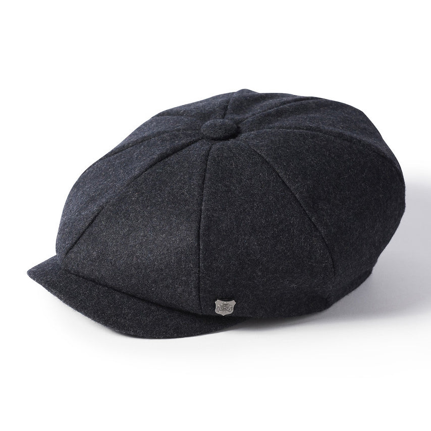 Failsworth Alfie Melton Newsboy Bakerboy Cap Grey
