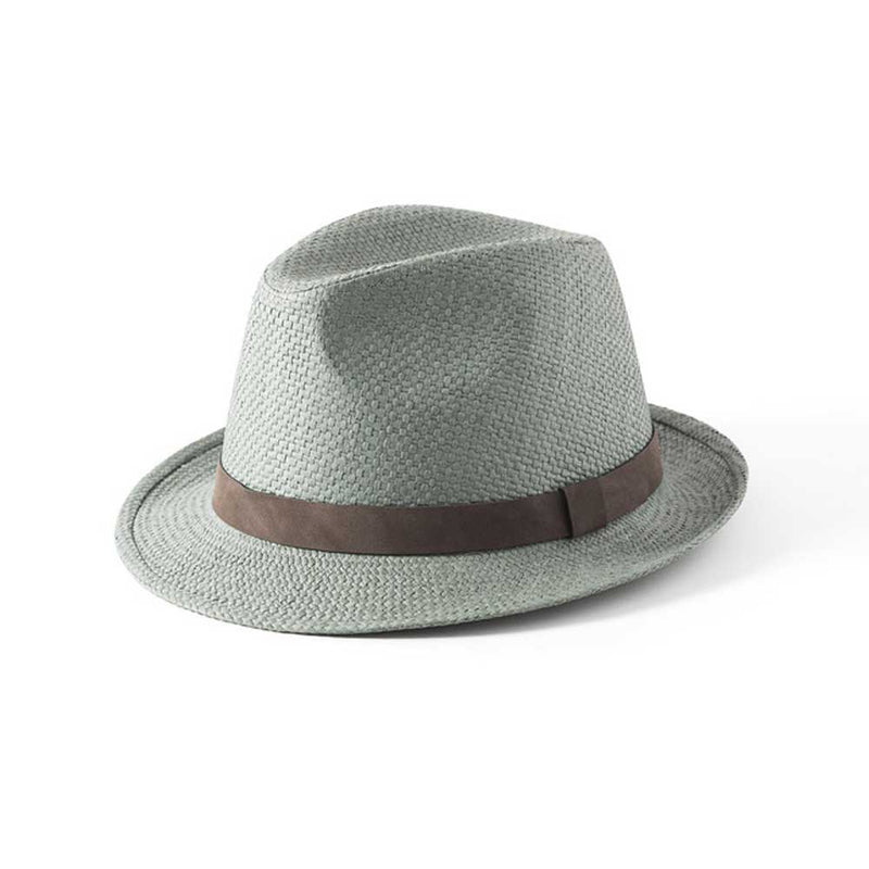 Failsworth Hats Straw Trilby Hat Sage Green