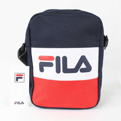 Fila Sheckles Cross Body Bag Peacoat, Red and White One Size.