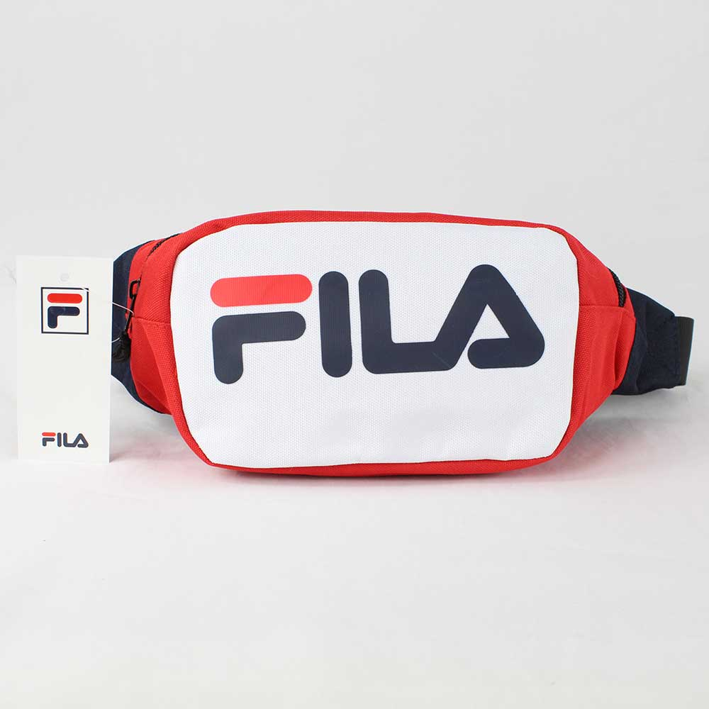 Fila Soel Waist Bag Black Red and White One Size