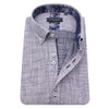 Guide London Short Sleeve Navy Micro Textured Geometric Print Shirt HS2471