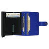 Secrid Miniwallet Crisple Blue / Black Leather Wallet