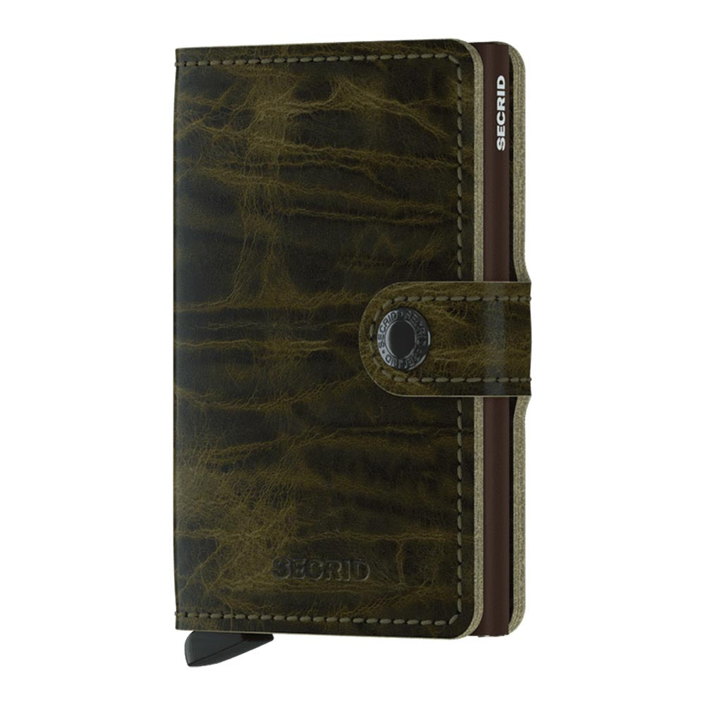 Secrid Miniwallet Dutch Martin Olive Leather Wallet