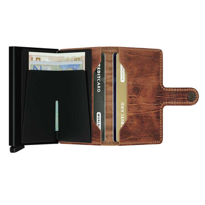 Secrid Miniwallet Dutch Martin Whiskey Leather Wallet