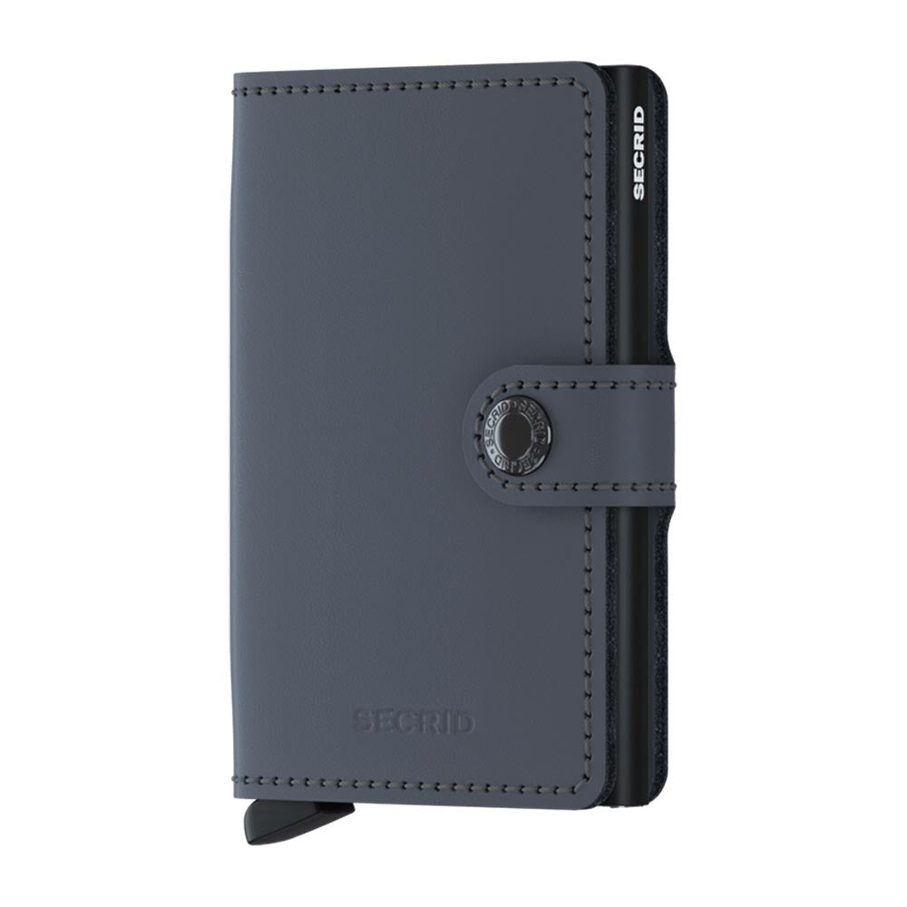 Secrid Miniwallet Matte Grey and Black Leather Wallet