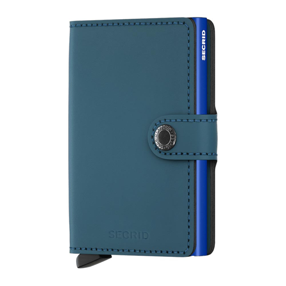 Secrid Miniwallet Matte Petrol Blue Leather Wallet