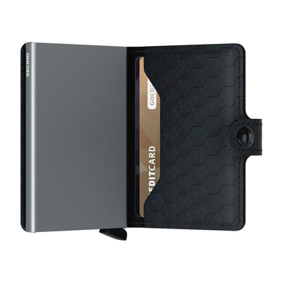 Secrid Miniwallet Optical Black Titanium Leather Wallet