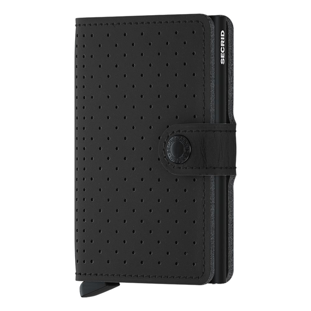 Secrid Miniwallet Perforated Black Leather Wallet