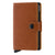 Secrid Miniwallet Perforated Cognac Brown Leather Wallet