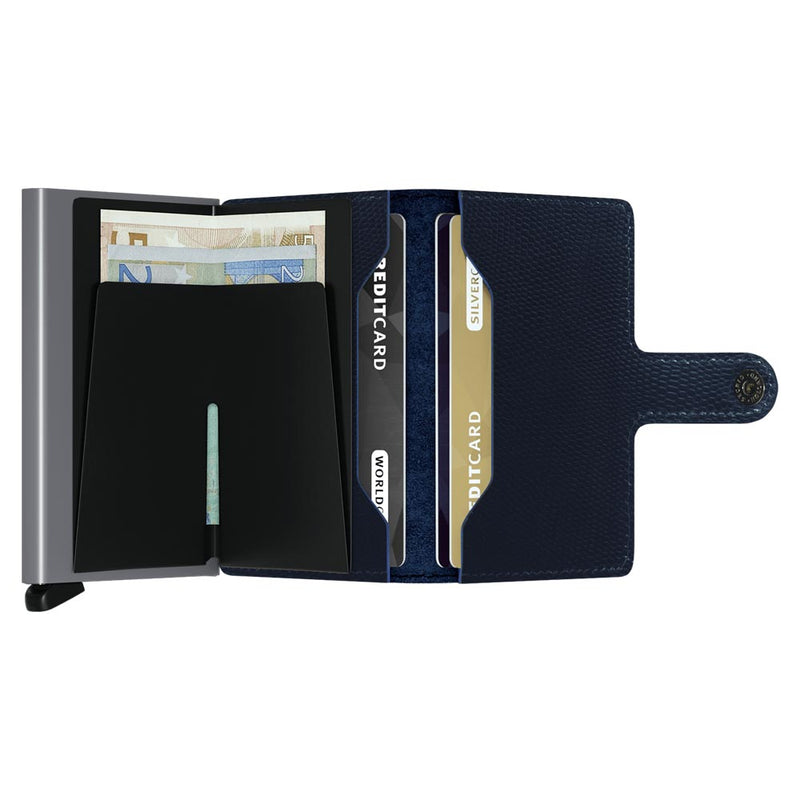 Secrid Miniwallet Rango Blue / Titanium Leather Wallet