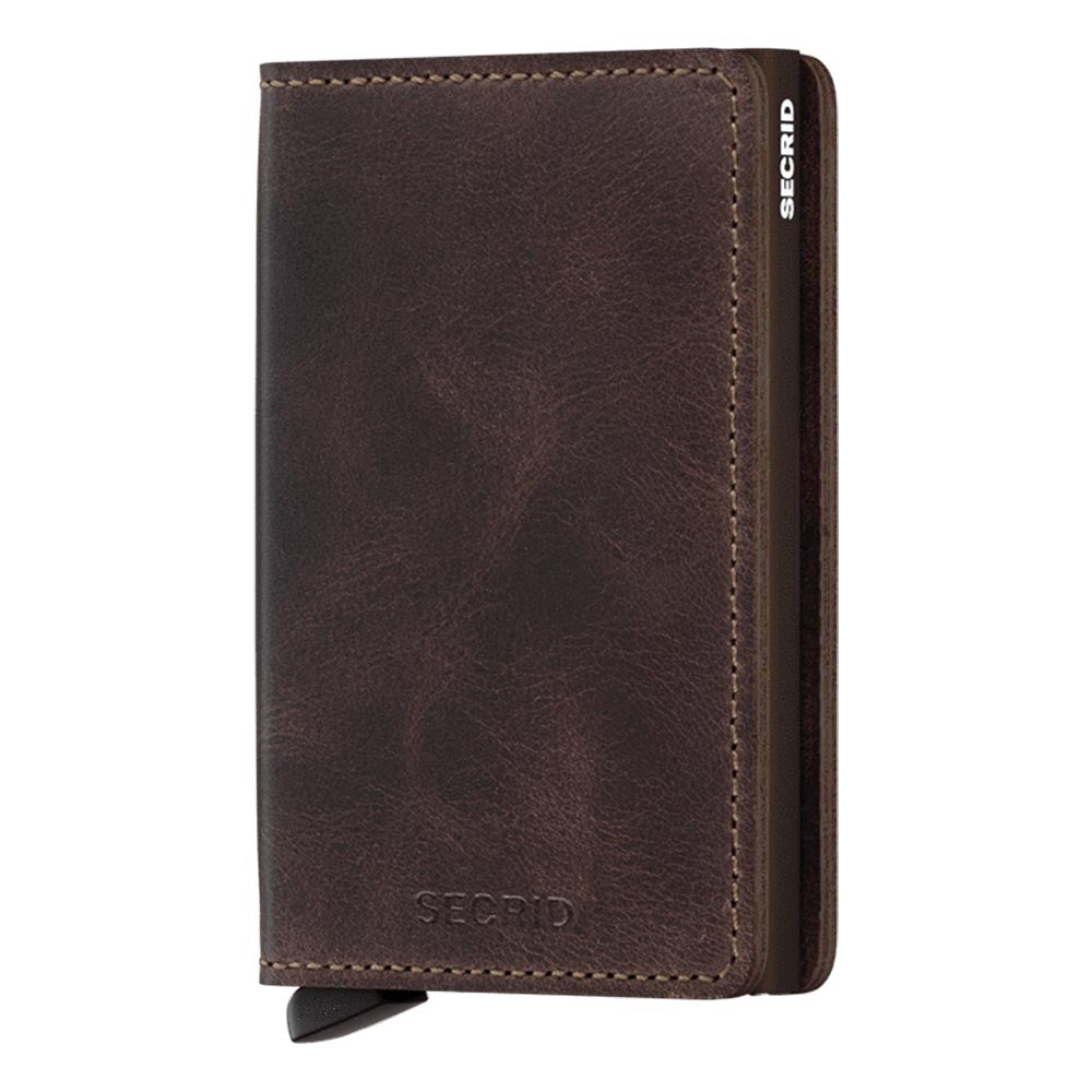 Secrid Slimwallet Vintage Chocolate Leather Wallet